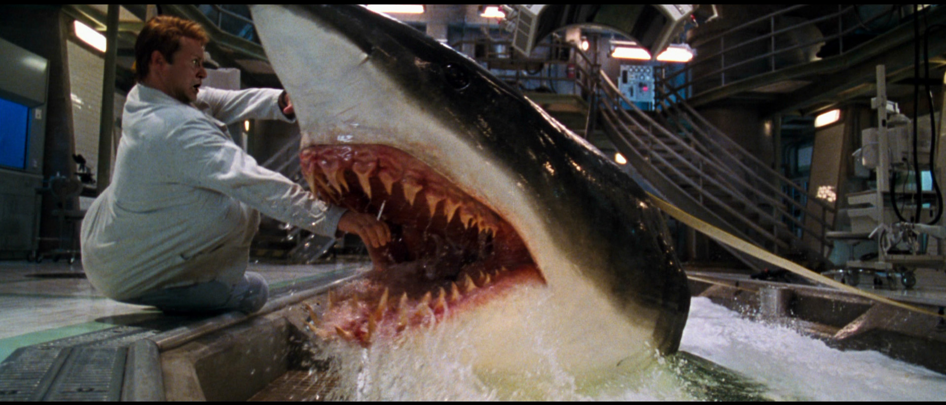 A still from Deep Blue Sea