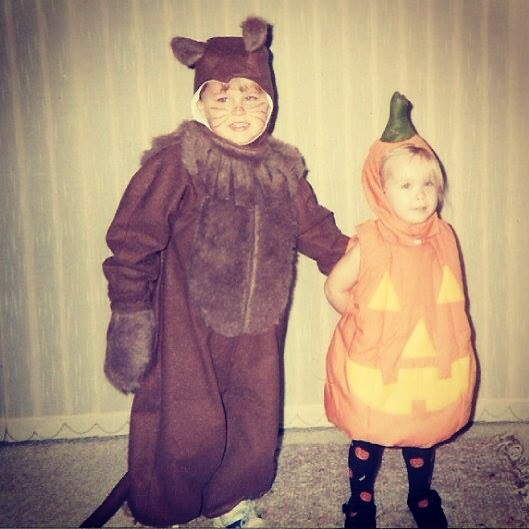 This is a photograph of Bob as a child dressed as a lion for Halloween.