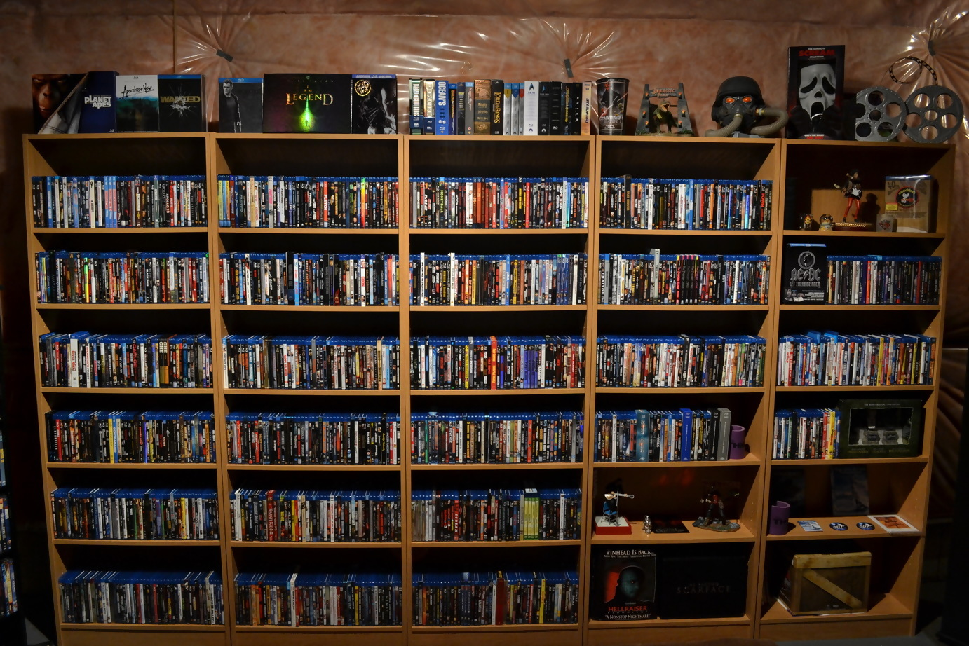 This is a photo of a blu ray collection.