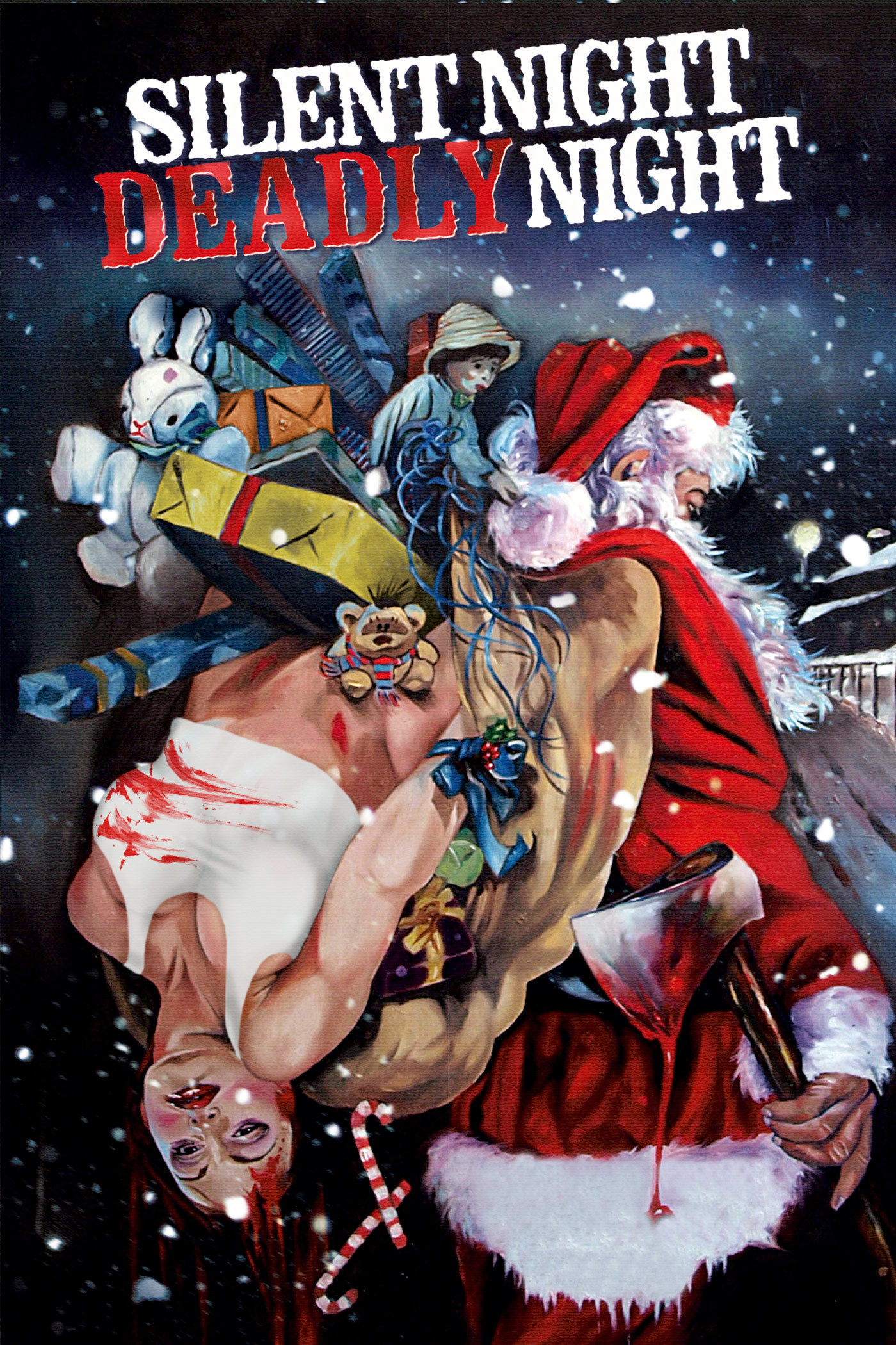 This is a poster for Silent Night, Deadly Night.