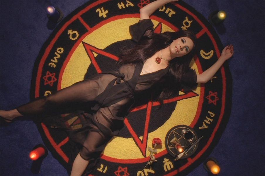 This is a still from the film, The Love Witch.