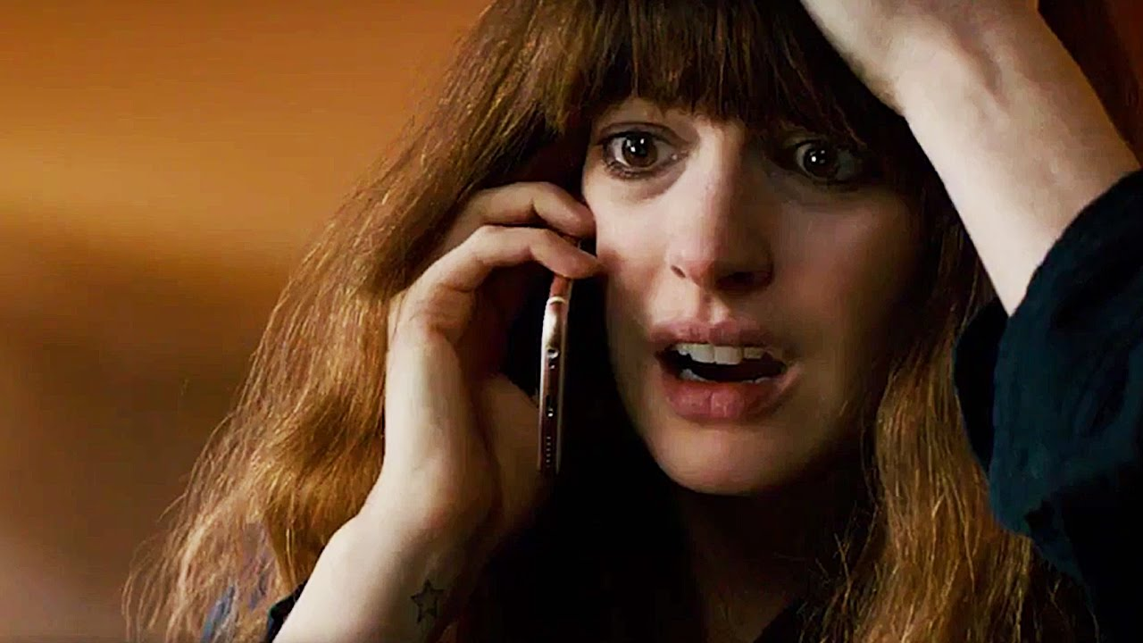 This is a still from the film Colossal.