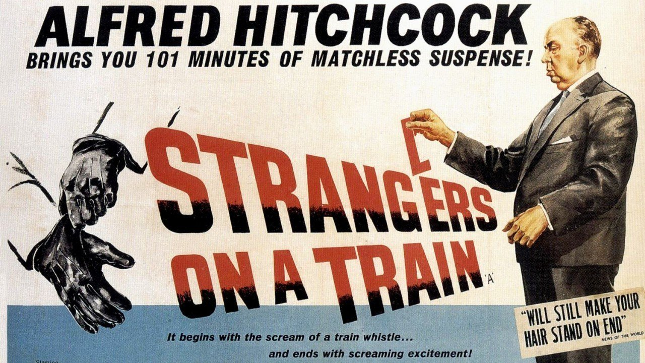 This is a poster for Strangers on a Train.