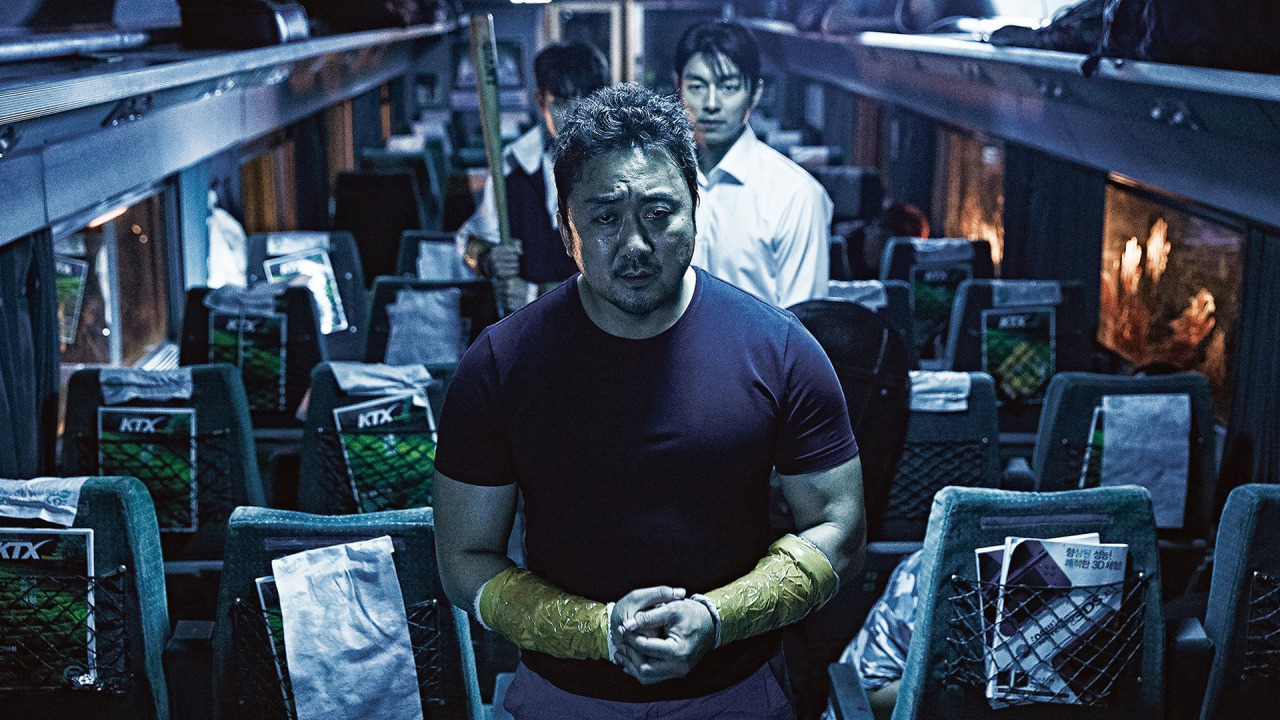 This is an image from the film, Train to Busan.
