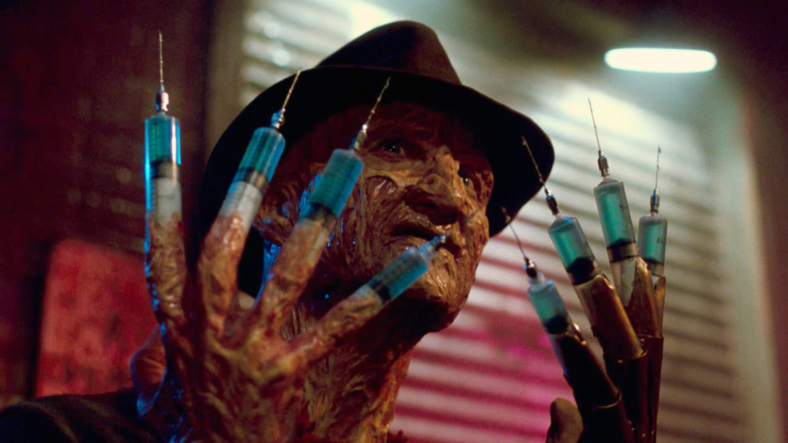 This is a still from the film A Nightmare on Elm Street 3: Dream Warriors.