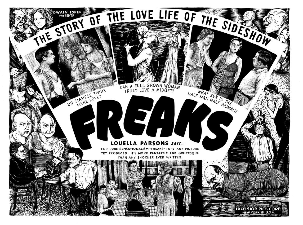 This is a poster for the 1932 film, Freaks.