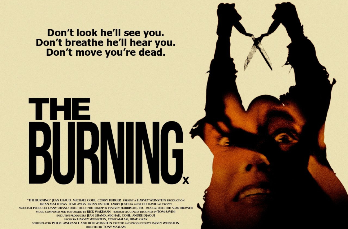 This is a poster for the film, The Burning.
