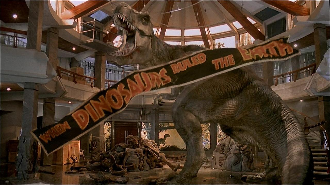 This is a still image from the film Jurassic Park.