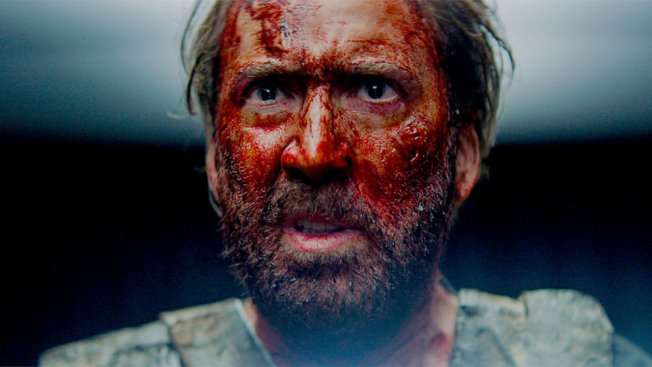 This is a still image from the film, Mandy.